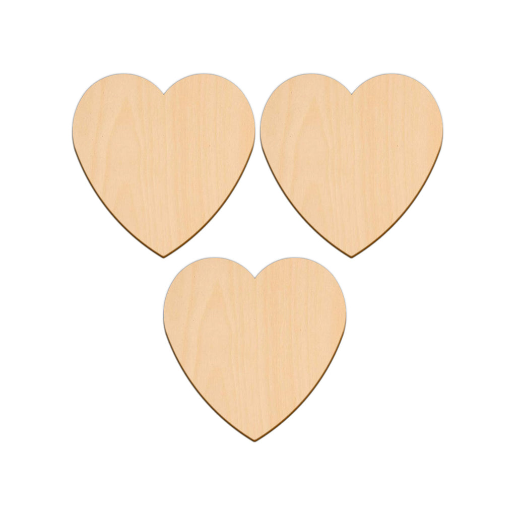 Valentines Heart - 11.4cm x 11.4cm - Wooden Shapes