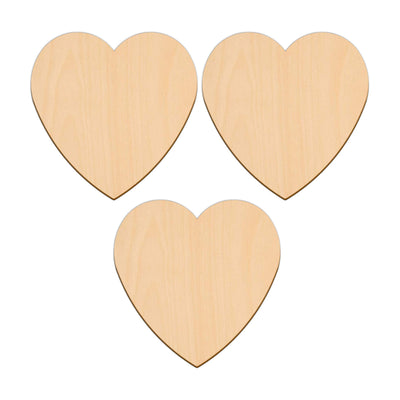 Valentines Heart - 12.7cm x 12.7cm - Wooden Shapes