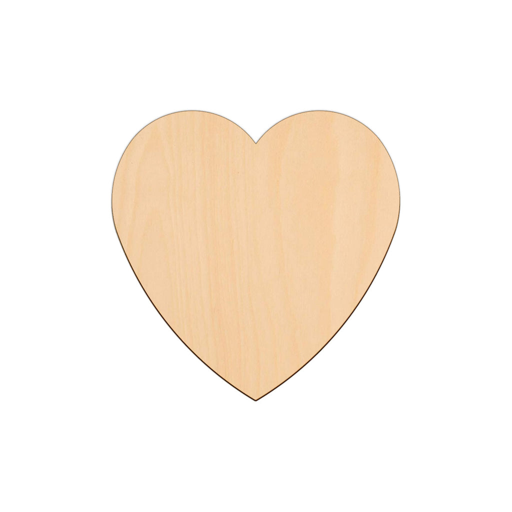 Valentines Heart - 18cm x 18cm - Wooden Shapes