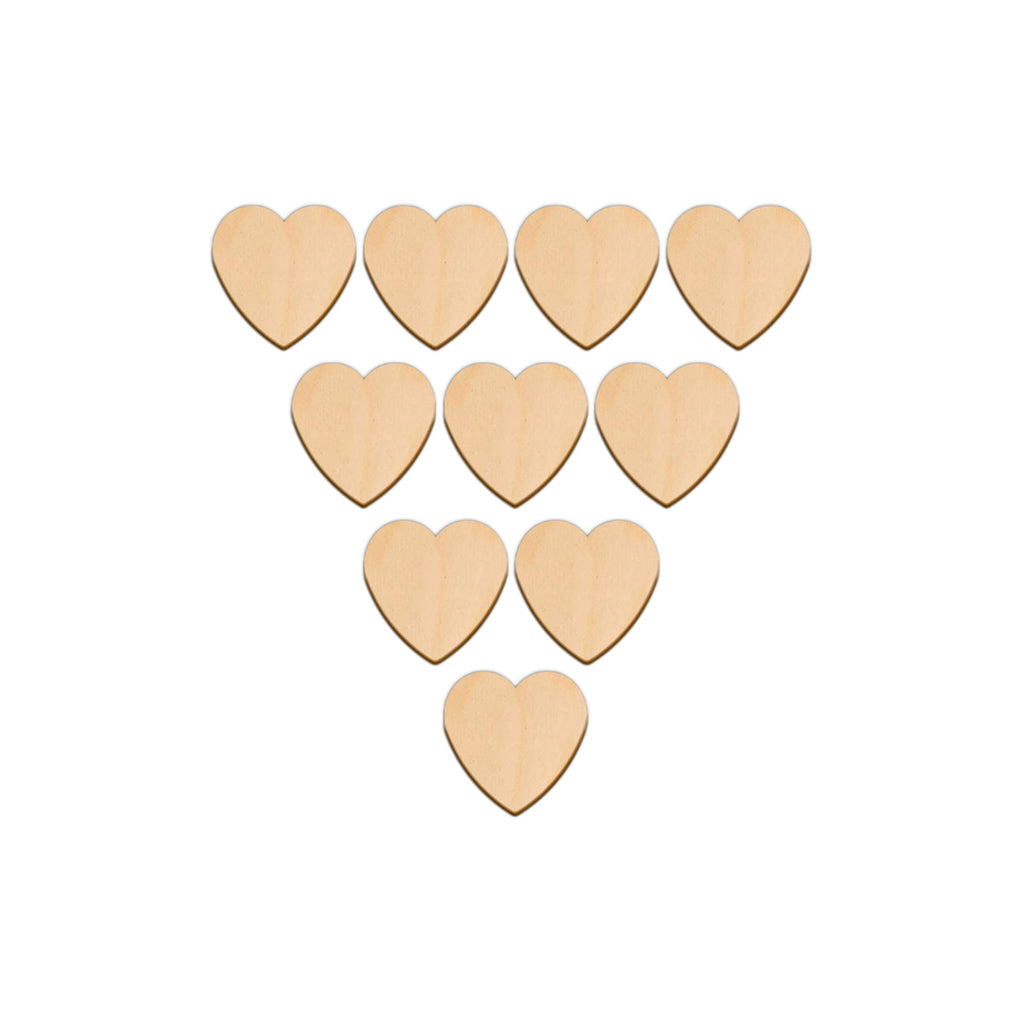 Valentines Heart - 3.8cm x 3.8cm - Wooden Shapes