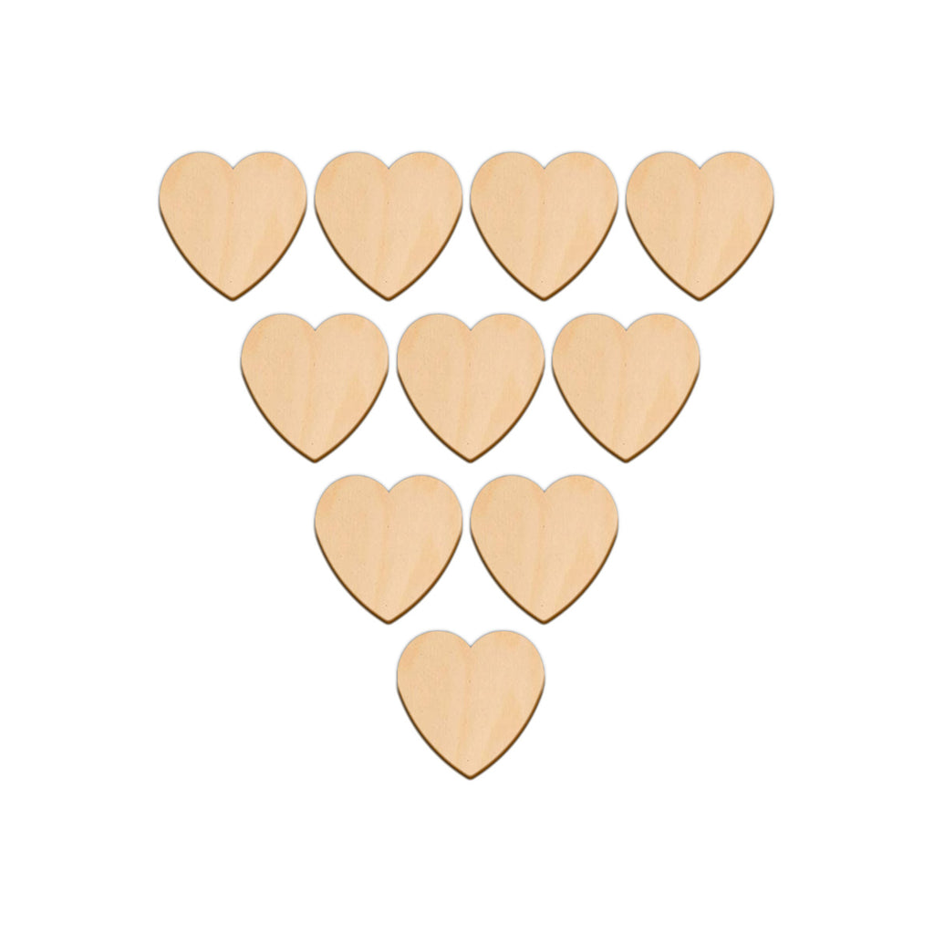 Valentines Heart - 4.5cm x 4.5cm - Wooden Shapes