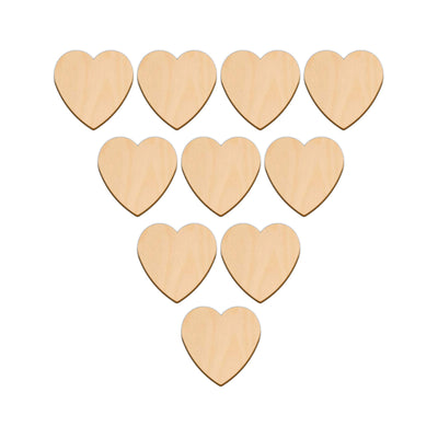 Valentines Heart - 5cm x 5cm - Wooden Shapes