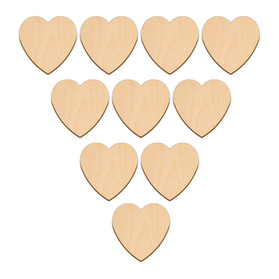 Valentines Heart - 6.4cm x 6.4cm - Wooden Shapes