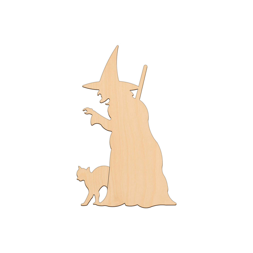 Witch With Cat - 13cm x 21.3cm