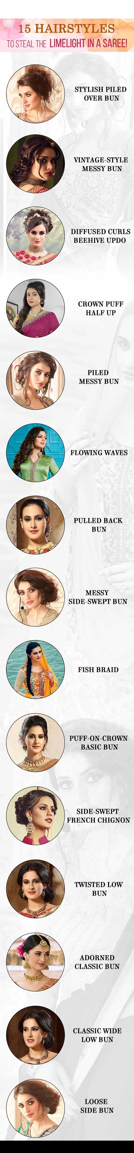 Hairstyles that matches to your Saree