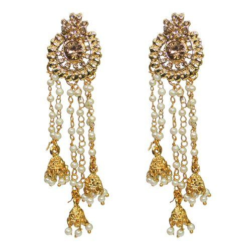 Traditional Fashion Roll Chain Dangler Pearls Women's Earrings - DChyper