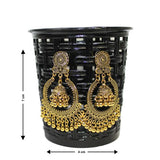 Traditional Indian Gold Plated Jhumka Women's Fashion Earrings - DChyper