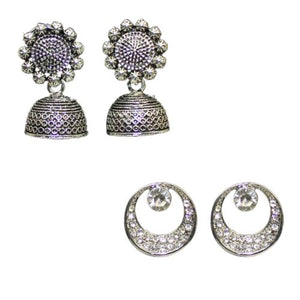 Traditional Fashion Combo Of 2 Jhumkas Studs Women's  Earrings - DChyper