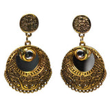 Traditional Indian Fancy Kundan Mirror Dangle Women's Earrings - DChyper