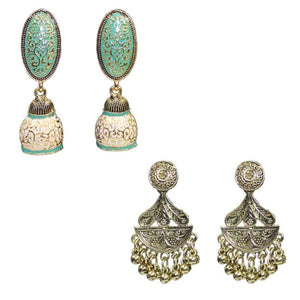 Traditional Combo Of 2 Meenakari beads Dangle Women's Earrings - DChyper