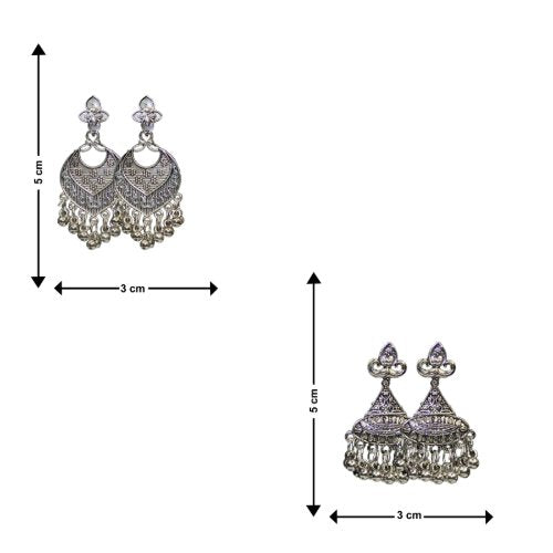 Traditional Indian Combo Of 2 Dangler Women's Fashion Earrings - DChyper