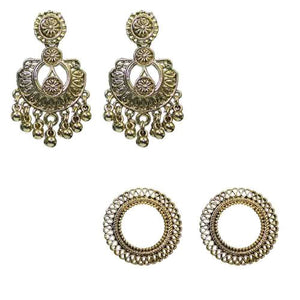 Traditional Combo Of  2  Dangler Stud Women's Fashion Earrings - DChyper