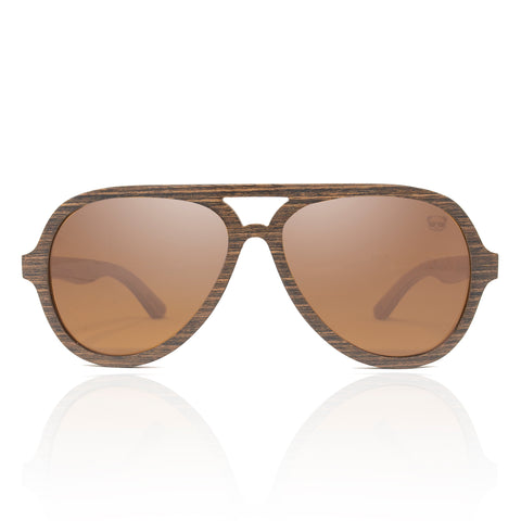 Wooden Aviator Sunglasses