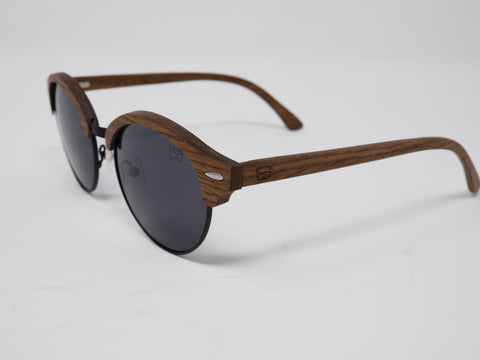 Wooden Clubmaster Browline Wood Sunglasses