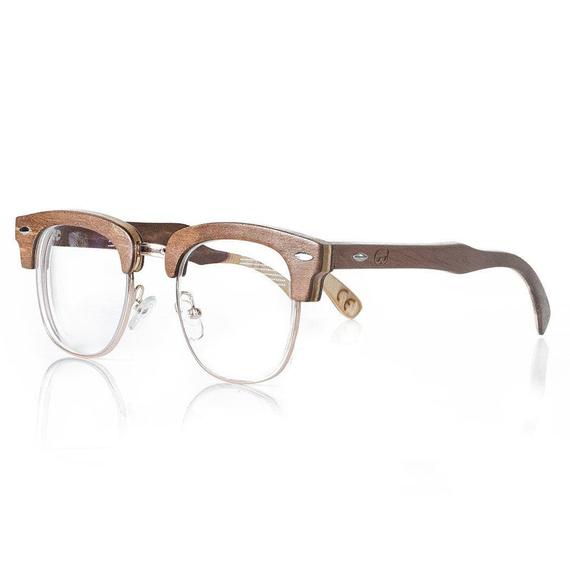 Prescription Eyeglasses Men's Natural Brown Half Rim 037ps Eyeglasses FreshForPandas