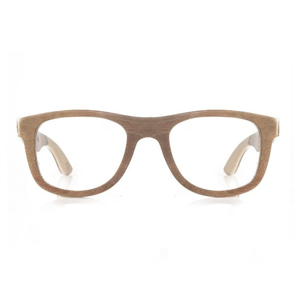 Wood Eyeglasses Layered Bamboo Golden Brown Wayfarer Frame 052ps Eyeglasses FreshForPandas