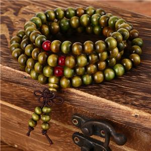 108pc 8mm Natural Sandalwood Prayer Malas Wooden Bracelet - FreshForPandas