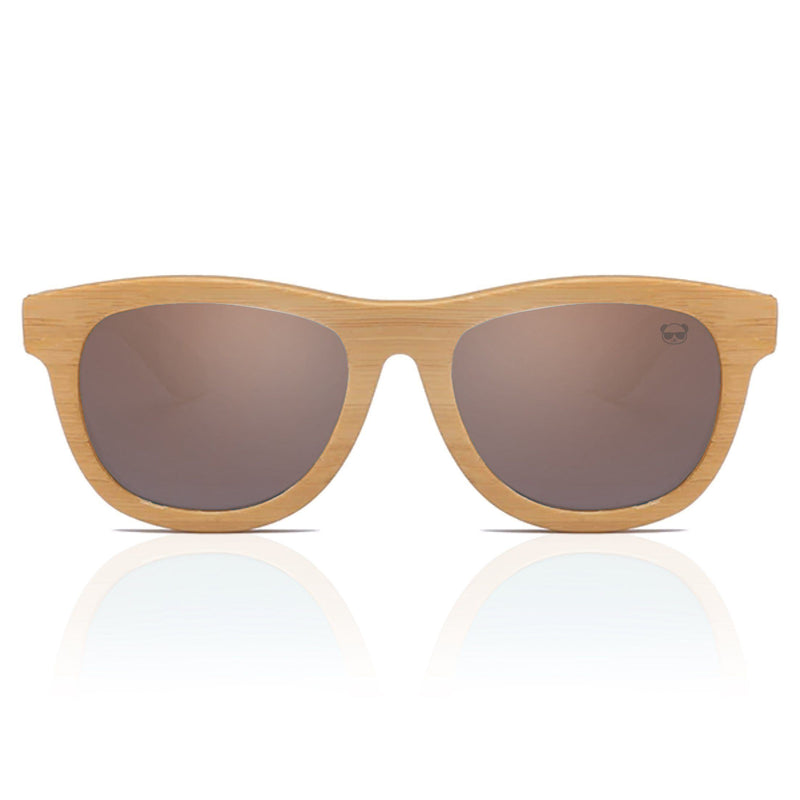 Premium Layered Wood Sunglasses with Bamboo Case Model: 2107 Sunglasses FreshForPandas Brown
