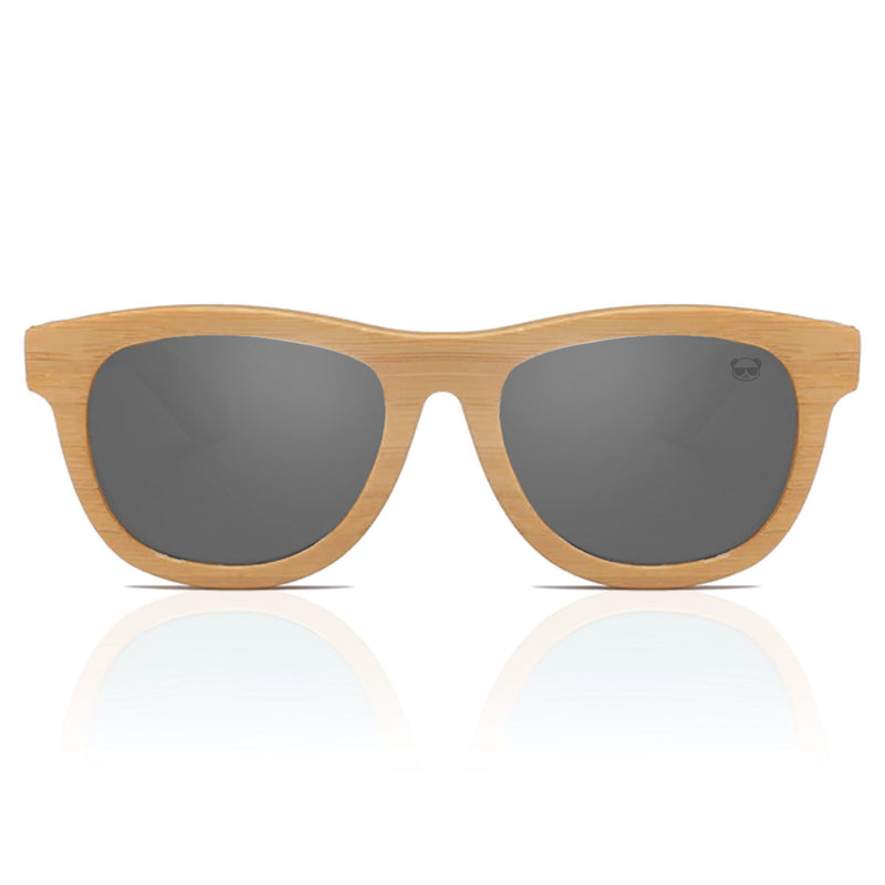 Premium Layered Wood Sunglasses with Bamboo Case Model: 2107 Sunglasses FreshForPandas Black