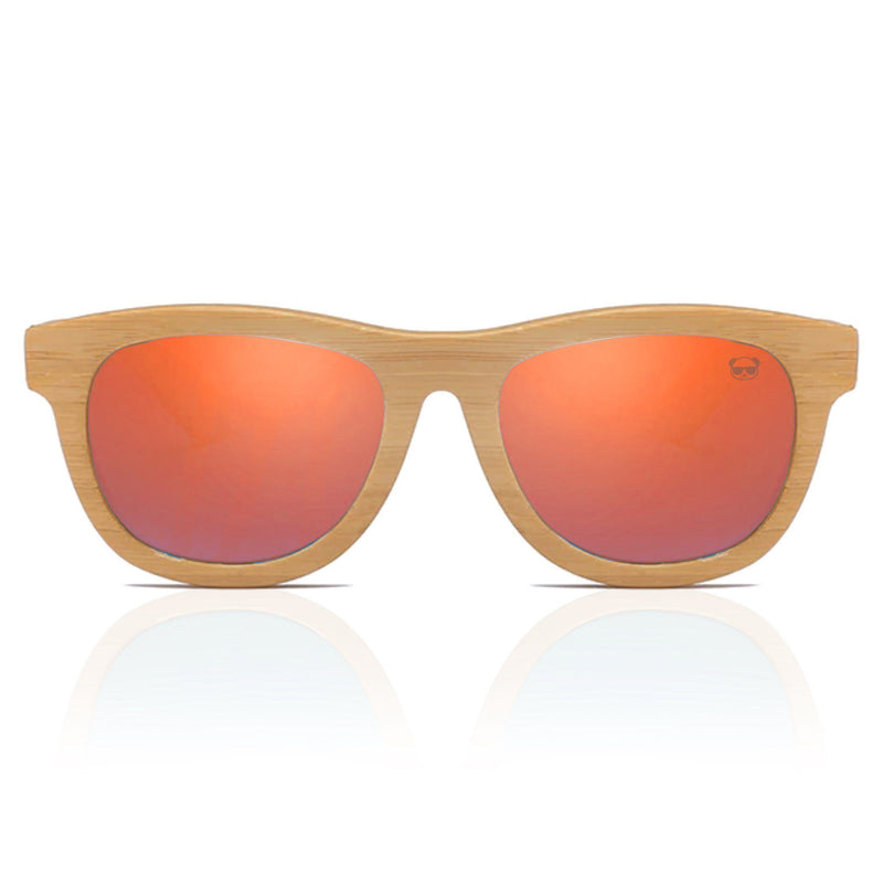 Premium Layered Wood Sunglasses with Bamboo Case Sunglasses FreshForPandas red