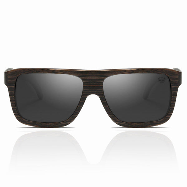 Aviator Wood Sunglasses, Polarised Dark Retro Solid Wood Sunglasses FreshForPandas