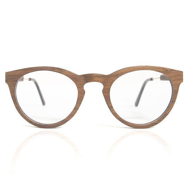 Oval Layered Wood with steel arms Wood Eyeglasses Model: 4020 Eyeglasses FreshforPandas