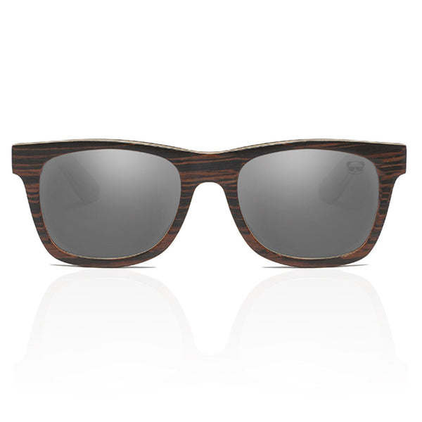 Prescription Dark Layered Wooden with Stripe Effect Sunglasses 043p Prescription Sunglasses FreshforPandas