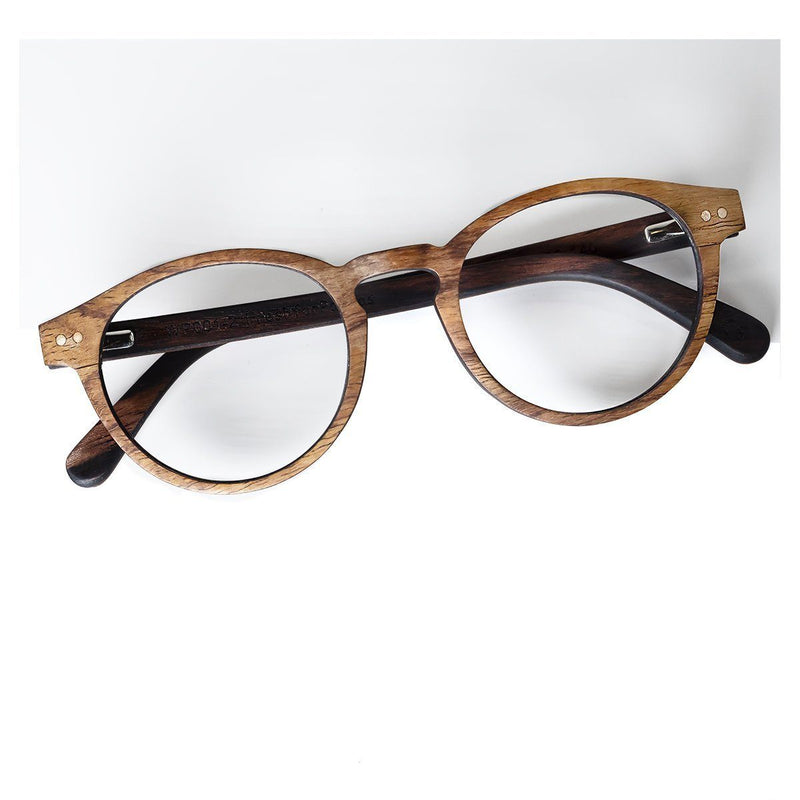 Wooden Eyeglasses Multi-layered Kosso and Ebony wood - P001-2 Eyeglasses FreshforPandas