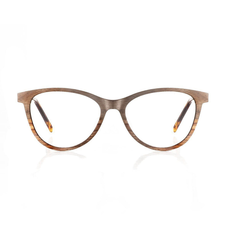 Wooden Eyeglasses Multi-layered Walnut Wood - P503-2 Eyeglasses FreshforPandas
