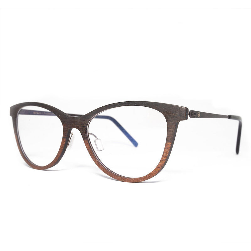 Wooden Eyeglasses Multi-layered wood and carbon fiber - P503-1 Eyeglasses FreshforPandas
