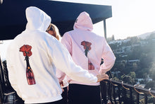 RED Champagne & Roses logo hoodie