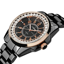 Bling Rhinestone SINOBI Luxury steel Quartz Watch Women Clock female Ladies Dress Wristwatch Gift Silver Gold 2017 relojes mujer