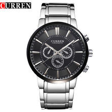 Curren Fashion Big dial Casual quartz watch Men's stainless steel Military Wristwatch waterproof Brand Relogio Masculino Male