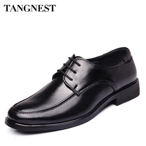 Tangnest 2017 NEW Man Formal Shoes Round Toe Lace-up Wedding Classic Business Man Shoes Spring Fashion Male Dress Shoes XMP750