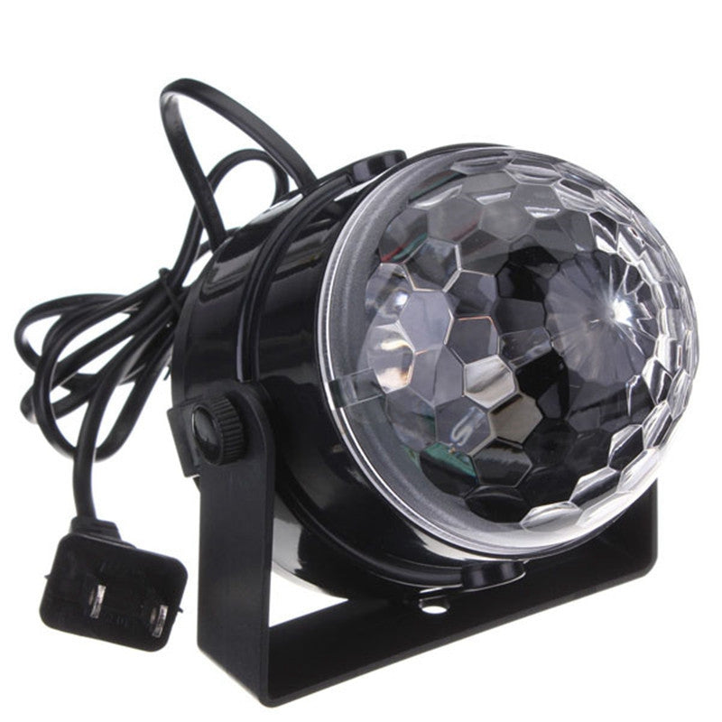 LED RGB Stage Light Mini Crystal Magic Ball Led Stage Lighting Effect DJ Light Bar Disco Club Party Decor Lamp 100-240V US Plug
