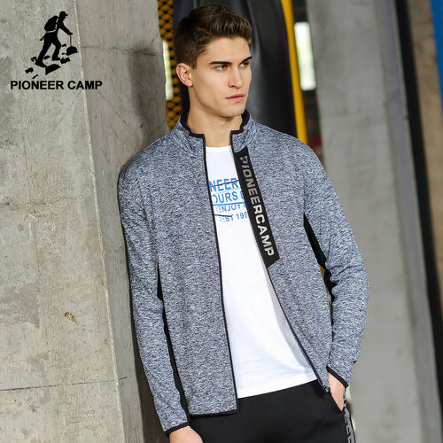 Pioneer Camp New jacket coat men brand clothing fashion zipper outerwear jacket men top quality stretch coat male AJK705085
