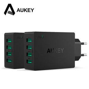 AUKEY USB Wall Charger Universal 40W Travel Charger 4 Port Adapter For iPhone 7 Plus/6s plus 4s 5s Samsung Phone &More Phones PC