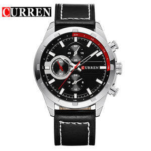 Curren Men's Watches Men Sport Quartz Watch Men Leather Strap Casual Military Watches Gold Waterproof Clock Relogio Masculino