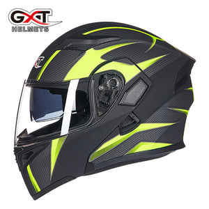 Brand GXT Flip Up Motorcycle Helmet Double lens full face helmet High quality DOT approved Moto cascos motociclistas capacete