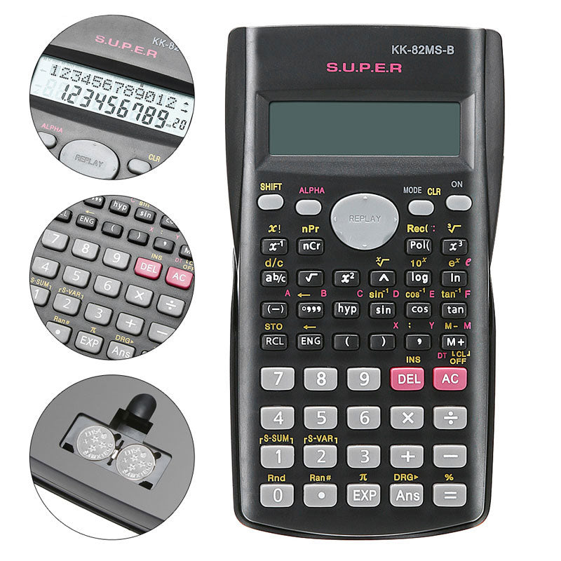 82MS-A Portable Handheld Multifunctional Calculator for Mathematics Teaching Students  Function Display Scientific Calculator