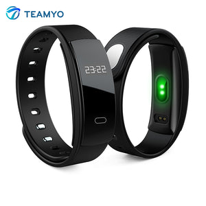 Teamyo QS80 Smart Band Heart Rate Monitor Blood Pressure Watch Fitness Tracker Smart Bracelet Waterproof pulsera inteligente