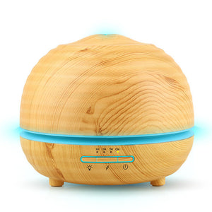 300ml Air Humidifier Essential Oil Diffuser Aroma Lamp Aromatherapy Electric Aroma Diffuser Mist Maker for Home-Wood 300ml
