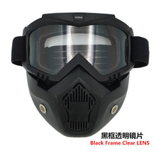 VCOROS Modular Mask Detachable Goggles And Mouth Filter Perfect for Open Face Motorcycle Half Helmet and Vintage Helmets