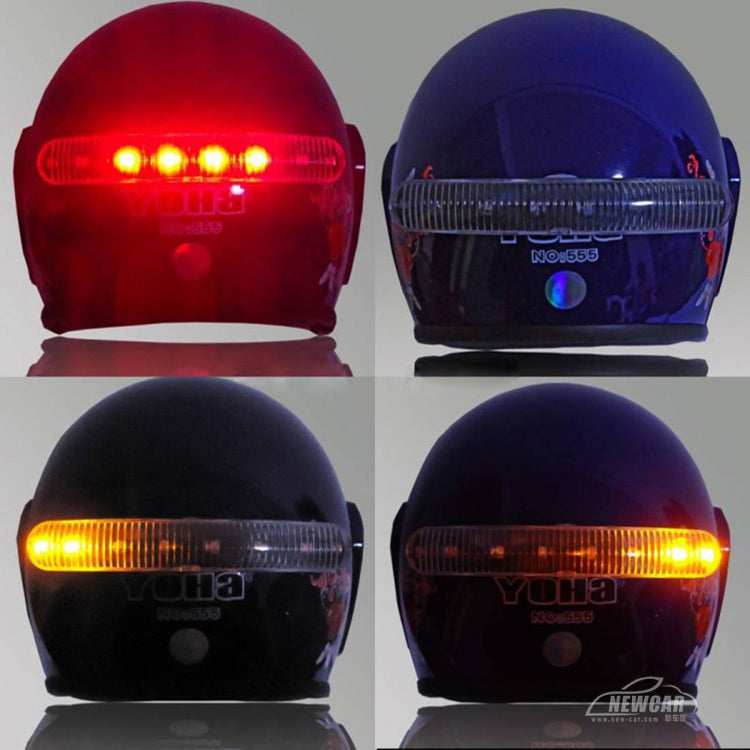 12v DIY LED Motorcycle Helmet mount  Stop Brake running Light w/ Turn Signal for Harley Honda Suzuki Kawasaki Yamaha Custom