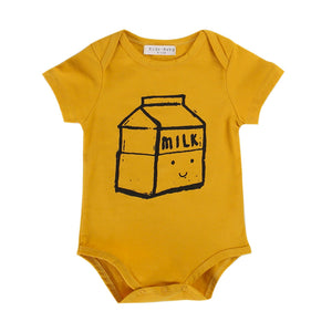 0-24M baby romper Newborn Boys Girls Baby Romper Letter milk box printed Jumpsuit Clothes Outfit baby clothes Drop ship