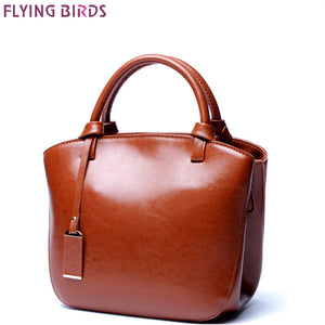 FLYING BIRDS Genuine Leather Bags Women's Designer Handbags famous brands Crossbody Bags High Quality Shoulder Messenger Bag