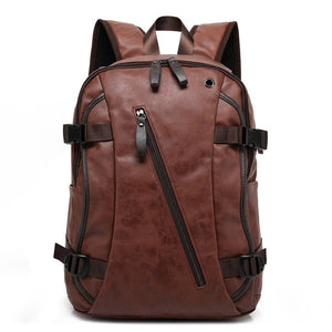 Fashion Design PU Leather School Bag For Teenagers Large Capacity High Quality University Student Bag Backpack Laptop For Travel