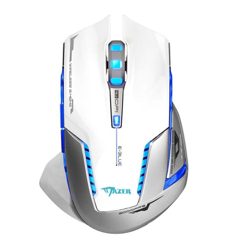 Malloom Gaming Mouse Laser Battery Finger mouse 2.4Ghz Wireless Optical Positioning 5m Distances 2500 DPI For Computer Pc Laptop