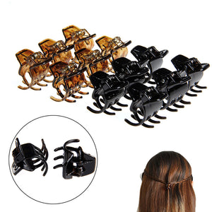 12Pcs Women Hair Claws Styling Plastic Mini Clip Claw Clamp