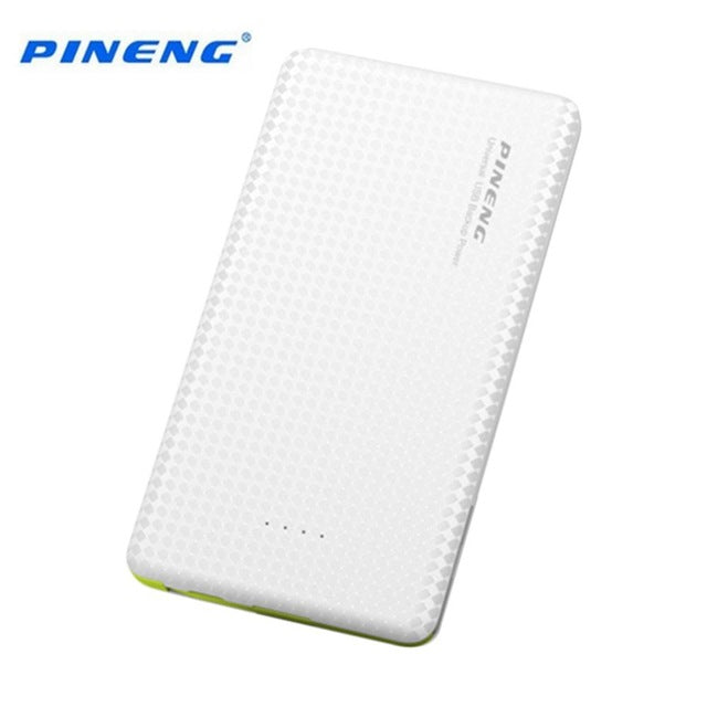 Original PINENG 5000mAh Mobile Power Bank Fast Charging External Battery Portable Charger Li-polymer Battery for Xiaomi Iphone